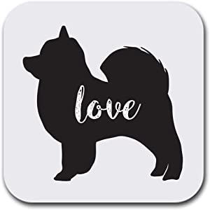 "Pomeranian Dog Love My Pet Drink Beer or Absorbent Beverage Coasters - Set of six (6 pcs) - Gifts Home Office - Furniture Safe - Quality Neoprene 1/4 Inch Thickness 3.5""x 3.5"""
