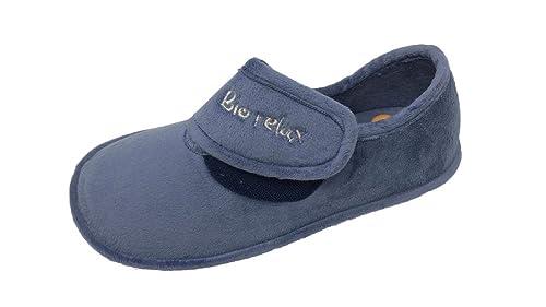 Zapatilla de Estar por casa/Biorelax/Mujer/Mod Cierre fácil: Amazon.es: Zapatos y complementos