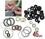 Azi 45pc Complete Home Washer Plumbing Repair Kit Assortment DIY and Professional Repairs - Plumbing Emergencies, Worn out Washer Replacements
