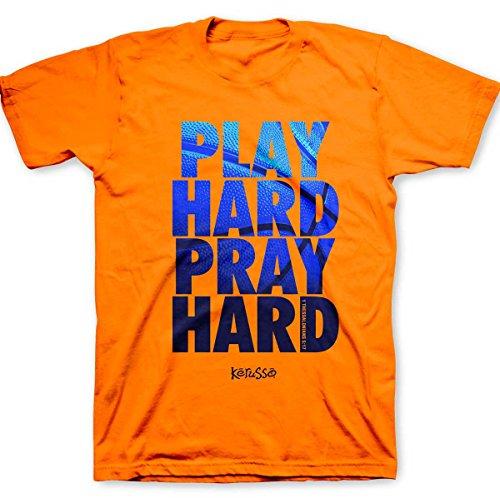 Play Hard T-Shirt,Safety Orange,X-Large
