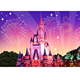 uBabamama Disneyland Christmas Dream Castle DIY 5D Diamond Painting, Crystal Rhinestone Diamond Embroidery Paintings Pictures Arts Cross Craft Wall Decals for Living Room Bedroom Kitchen