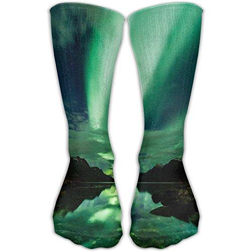 Fashion Special Aurora Polaris Light Crew Socks Soccer Compression Socks For - Place Fashion Polaris