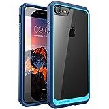 SUPCASE iPhone8 ケース / iPhone7 ケース 米軍MIL規格取得 衝撃吸収 Unicorn Beetle シリーズ 透明/青い