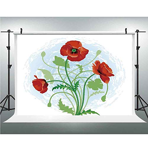 Floral Photography Backdrop Studio Photographers Background Props Poppy Flowers Bouquet Meadow Beauty Rural Petal of Fragrance Image 59