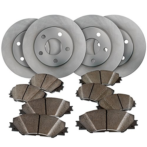 02 Ford Spec Expedition (Front and Rear OE Spec Quiet Technology Rotors and Premium Ceramic Pads featuring Tripple Layer Wolverine Shims BK30099 | Fits: Expedition Navigator)