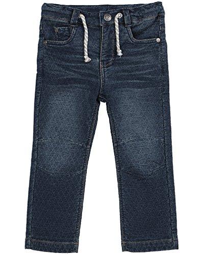 (Petit Lem Boys' Little Rock You Knit Pants, Dark Blue Denim, 4)