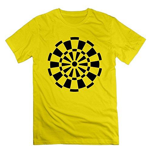 Thelover8 Men's Dart T-Shirt - L Yellow