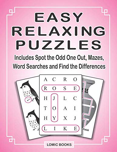 Easy Crafts For Seniors - Easy Relaxing Puzzles: Includes Spot the