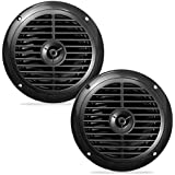 Pyle PLMR67B 6 1/2 inch Dual Cone Waterproof Stereo Speakers