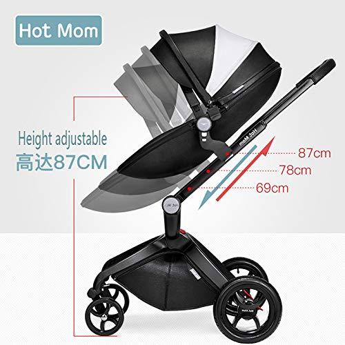 Amazon.com: Hot Mom Cochecito de bebé 3 en 1 con capazo ...