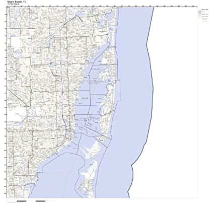 Amazon.com: Miami Beach, FL ZIP Code Map Not Laminated: Home & Kitchen