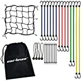 CARTMAN Bungee Cord Assortment 28 Pieces with Cargo Net