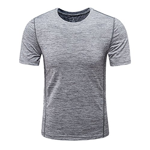 MEATFLY. Men's Solid Rashguard UPF 50+ Swim Shirts (Grey, Large) ()