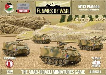 War Games - Jordanian - M113 Platoon - 1:100 Scale - Flames Of War by Battlefront Miniatures: Amazon.es: Juguetes y juegos