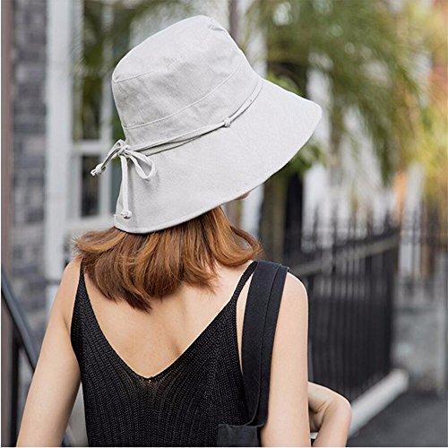 RangYR Women Hat Summer Fall Sonnenhut Aus Baumwolle Und Leinen Sonnenschutz Sonnenhut Sonnensegel Faltende Fischer Hut Kappe Gray