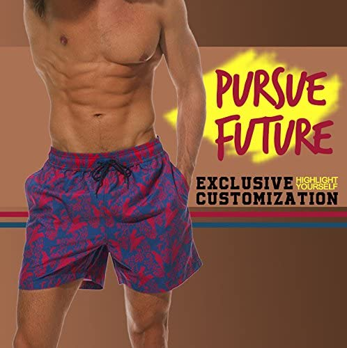 YOUSHO Valentines Day Mens Swim Trunks Beach Shorts Quick Dry Mesh Lining Board Shorts Swimwear with Pockets