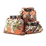 OULII 3-Pack Dry Bag Sack Waterproof Floating Storage Pouch Bags for Camping Boating Kayaking Rafting Fishing (Camouflage)