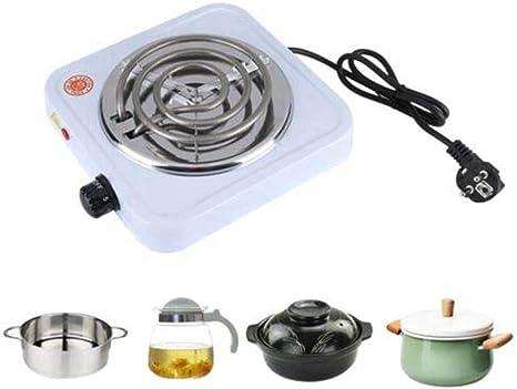 Placa de Cocción Eléctrica 1000 W Accesorios para Cocción de Cocina Eléctrica Portátil para Estufa de Té y Café