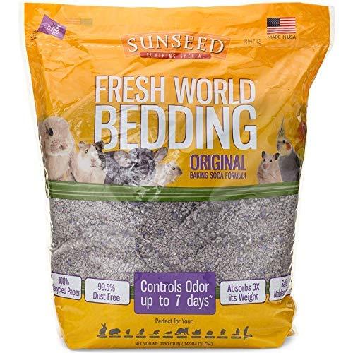 SUNSEED Fresh World Bedding - 975 Cubic Inch - Gray Fleck