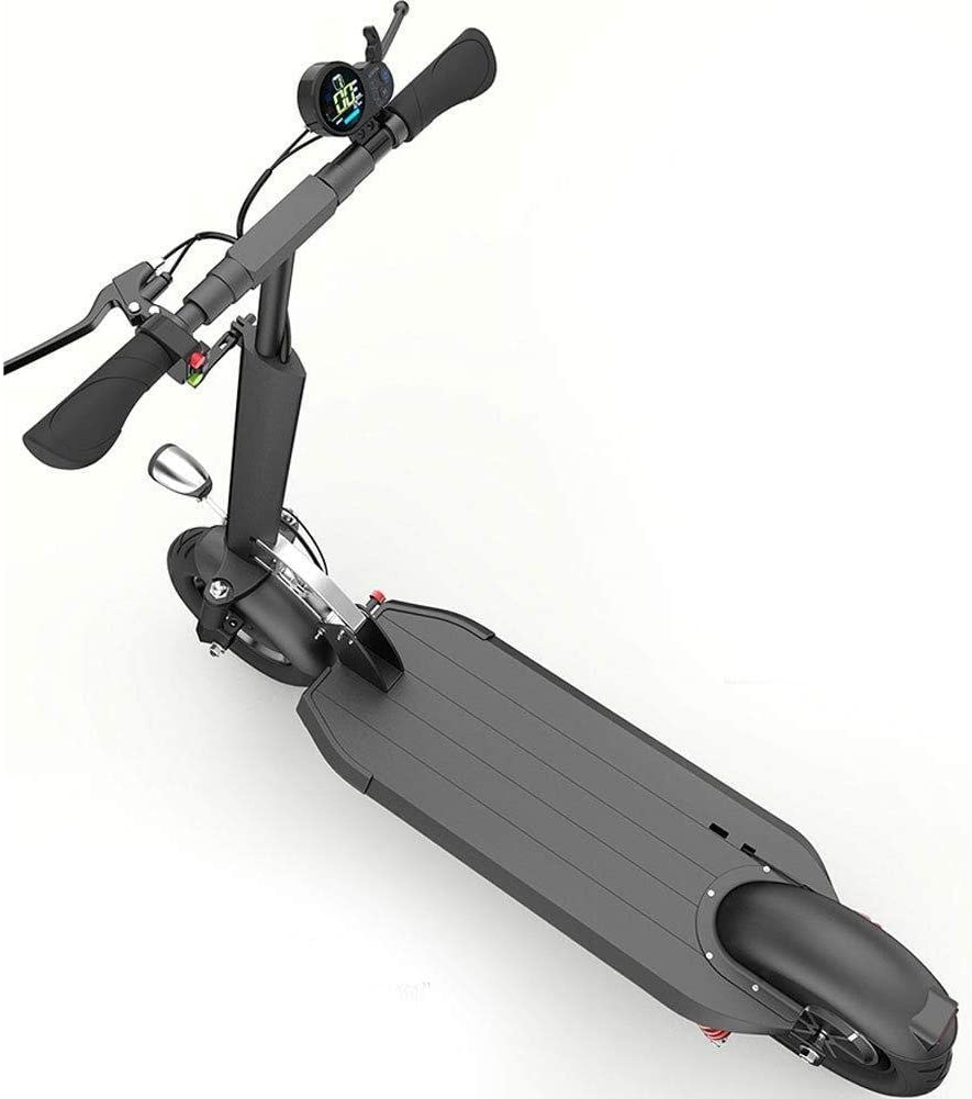 سكوتر كهربائي YU827 من YwnSHOPPING، دراجة كهربائية، حزام قابل للطي 10 بوصة، بطارية ليثيوم 48 فولت، أقصى سرعة 35 كم/ساعة، محرك 400 وات مع شاشة LCD