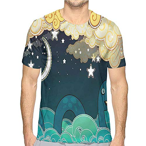 t Shirt Printer Nautical,Loch Ness Monster in Ocean Junior t Shirt XL]()