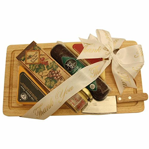 GreatArrivals Gift Baskets Cheese Board Delights: Thank You Cheese & Cracker Gift Pack, 2 Pound