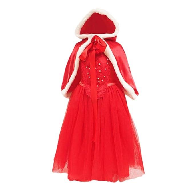 Disfraz Navidad Bebe, ❤ Zolimx Niñas Niños Ropa de Navidad Vestidos de Encaje Princesa Fiesta Cosplay Vestido 2Pcs Conjuntos Bebe Niña: Amazon.es: Ropa y ...