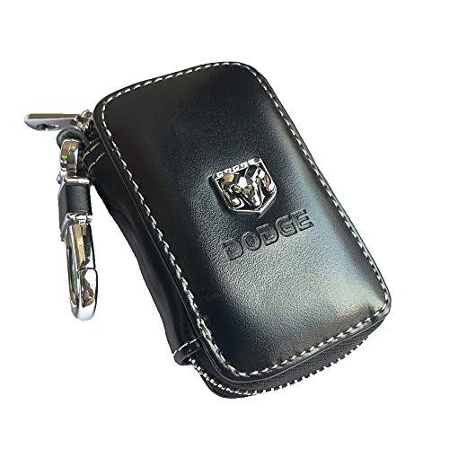 Leather Car Key Case Remote Control Package Auto Key Chains for Dodge Accessories