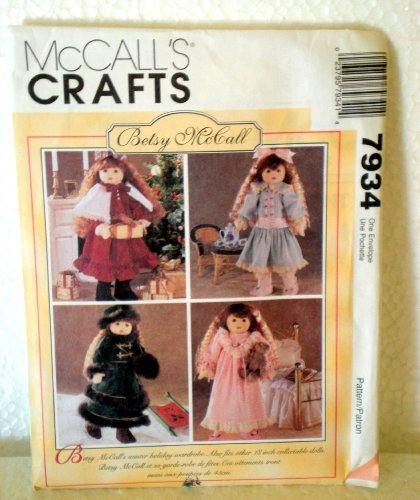 McCall's Crafts 7934 Doll Clothes for 18