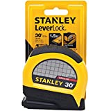 30 ft stanley tape measure - Stanley STHT30830 Lever Lock Tape Rule, 30' x 1