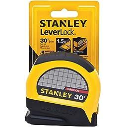 Stanley STHT30830 Lever Lock Tape Rule, 30\' x 1\