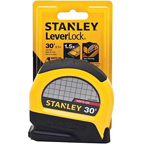 Stanley STHT30830 Lever Lock Tape Rule, 30' x 1