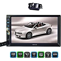 Newest EinCar Brand in Deck Headunit 7 inch Capacitive Touch Screen in Dash Car Stereo Double 2din Autoradio Bluetooth System Multi video Audio Automotive Vehicle NO DVD Player + Free Rear Camera