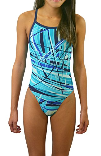Adoretex Womens New Direction Swimwear (FN031) - Teal - - Women Racing Swimsuits For
