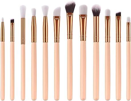 12 PCS Pinceles de Maquillaje de Ojos de Sombra TOPKEAL Set Makeup ...