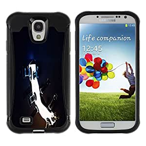 ZAAAZ Rugged Armor Slim Protection Case Cover Durable Shell - Blah - Samsung Galaxy S4