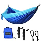 High Quality Double Camping Hammock SHINE HAI Camping Hammock is made of the new 210T Parachute Nylon fabric, soft, comfortable, breathable and super durable.  Support up to 500 lbs, suitable for 2 persons. Enjoy the happy time with your family or fr...