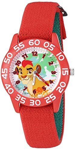 Disney Boy's 'Lion Guard' Quartz Plastic and Nylon Watch, Color:Red (Model: W002648)