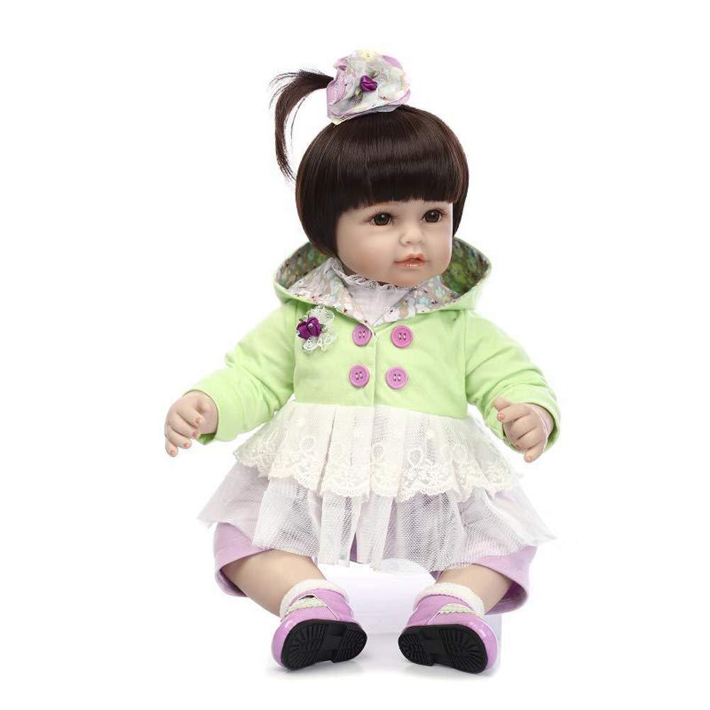 Homesave Bebé renacido, 22 '' Silicona Lifelike Toddler Cute Girl Doll Silicona Vinilo Presente 3 +