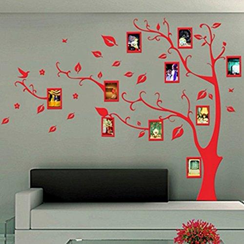 Alrens(TM)Luxury Photo Frames Tree Acrylic Crystal 3D DIY Wall Stickers Living Room Children's Room Nursery Decor Modern Design Mural Decal Gift Home Decoration