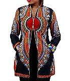 Womens Sexy Africa Print Hoodie Long Sleeves Party Clubwear Coat Jacket Blazer Print S