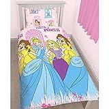 Disney Princess Childrens Girls Boulevard Reversible Single Bedding Set (Twin) (Pink)