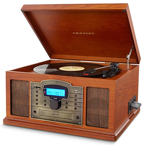 Crosley CR7002A-PA Troubadour Turntable with USB/SD Card Reader to Transfer Albums to Memory Card, Paprika by Crosley