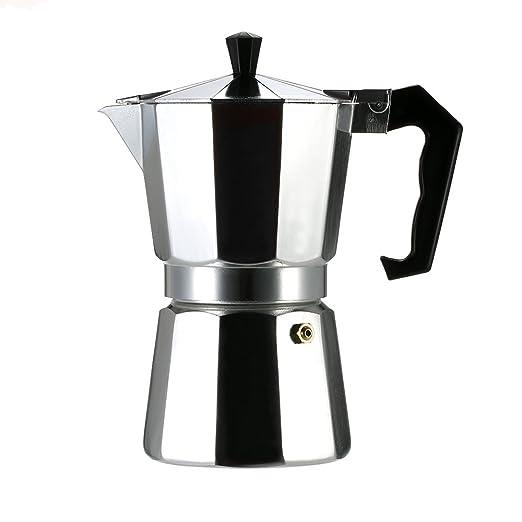Cafetera Italiana, 3/6/9/12 Tazas, Color Plata, Aluminio: Amazon ...