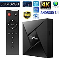 Greatlizard TX9 Pro Android 7.1 TV Box Smart Octa Core 64 Bit 3GB RAM 32GB ROM 4K HD Supported Bluetooth 4.0 2.4G/5.8G Dual Wifi