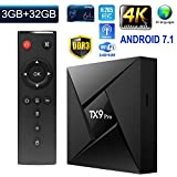 Greatlizard TX9 Pro Android 7.1 TV Box Smart Octa Core 64 Bit 3GB RAM 32GB ROM 4K HD Supported Bluetooth 4.0 2.4G/5.8G Dual Wifi