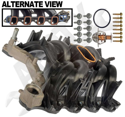 APDTY 726299 Intake Manifold Assembly With Upgraded Aluminum Coolant Passage Includes O-Ring Gaskets & Thermostat Fits 2000-2014 Ford Trucks & Vans w/ 5.4L Engine (Replaces Ford 4C2Z-9424-CA, 2L1Z-9424-AA, 5C2Z9424AA, 9C2Z9424AA, AC2Z9424A) (2001 Ford F150 Intake compare prices)