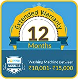 Zopper Assure 12 Months Extended Warranty for Washing Machine (Rs 10001 - 15000)