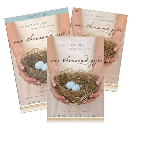 FULL SET: Book + DVD + Study Guide- One Thousand Gifts: A Dare to Live Fully Right Where You Are - Zondervan 2012 Ann Voskamp ()
