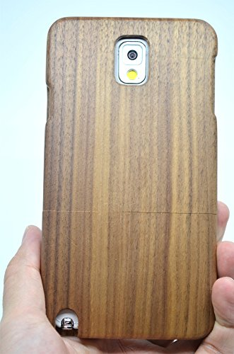 Price comparison product image Samsung Galaxy Note 3 Wood Case , PhantomSky[Luxury Series] Premium Quality Handmade Natural Wood Cover with Free Screen Protector for your Galaxy Note 3 - Walnut